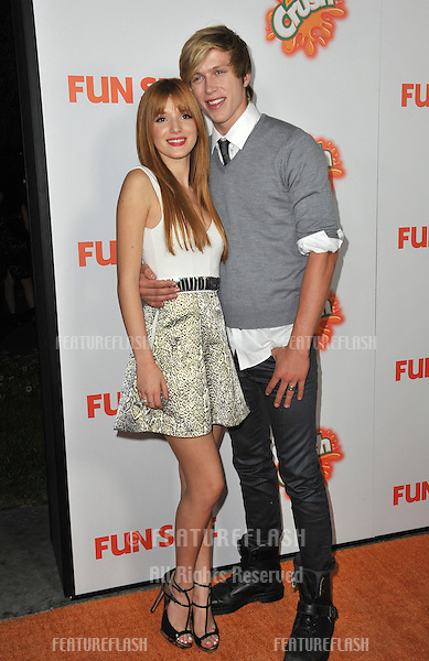 "Bella Thorne & boyfriend Tristan Klier at the Los Angeles premiere of her new movie ""Fun Size"" at the Paramount Theatre, Hollywood..October 25, 2012  Los Angeles, CA.Picture: Paul Smith / Featureflash"
