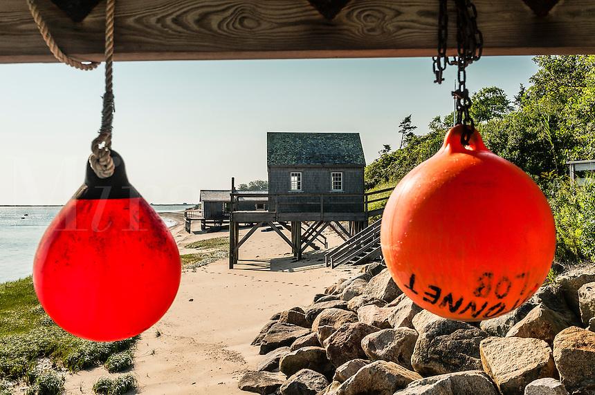 Rustic boathouse, Chatham, Cape Cod, MA, USA