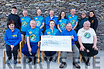Members of Pedal Herd Mizen to Malin Head cycle gang present a cheque for &euro;13,150 to the Kerry Hospice on Saturday. Seated l to r: Mary Shanahan, Sean Cronin, Ann Marie Dowling, Joe Hennerby and Martin Griffin. <br /> Standing l to r: Con and Liam Marley, Enda O&rsquo;Leary, Michael Fox O&rsquo;Connor, Caoimhe Marley, Jimmy Adams, Mary and Una Marley
