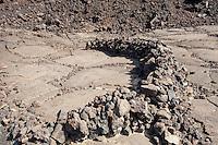 Rock shelter at the Waikoloa Petroglyph Field, Big Island, Hawaii