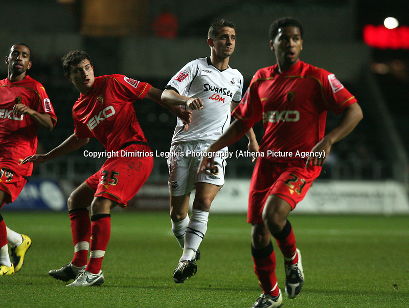 Pictured: Ferrie Bodde of Swansea City in action <br /> Re: Carling Cup Round Four, Swansea City Football Club v Watford at the Liberty Stadium, Swansea, south Wales, Tuesday 11 November 2008.<br /> Picture by Dimitrios Legakis Photography (Athena Picture Agency), Swansea, 07815441513