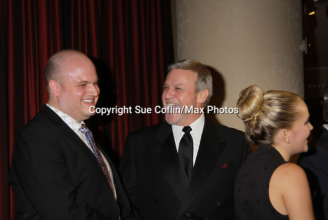 Opening Night -  Heath Schwartz chats with Ron Rains who stars in Follies, a James Goldman & Stephen Sondheim's classic musical on September 12, 2011 at the Marquis Theatre, New York City, New York. (Photo by Sue Coflin/Max Photos