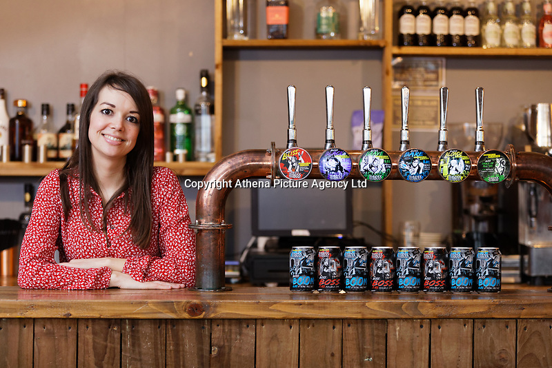 Sarah John, owner of Boss Brewing in Swansea, Wales, UK. Monday 14 January 2018
