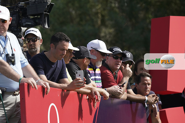 Spectators during the third round of the Omega Dubai Desert Classic, Emirates Golf Club, Dubai, UAE. 26/01/2019<br /> Picture: Golffile | Phil Inglis<br /> <br /> <br /> All photo usage must carry mandatory copyright credit (&copy; Golffile | Phil Inglis)