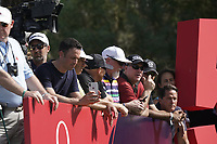 Spectators during the third round of the Omega Dubai Desert Classic, Emirates Golf Club, Dubai, UAE. 26/01/2019<br /> Picture: Golffile | Phil Inglis<br /> <br /> <br /> All photo usage must carry mandatory copyright credit (© Golffile | Phil Inglis)