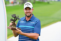 26th January 2020, Torrey Pines, La Jolla, San Diego, CA USA;  Marc Leishman looks with the trophy  after winning the Farmers Insurance Open golf tournament at Torrey Pines Municipal Golf Course on January 26, 2020.
