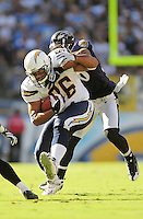 Sep. 20, 2009; San Diego, CA, USA; San Diego Chargers tight end (86) Brandon Manumaleuna against the Baltimore Ravens at Qualcomm Stadium in San Diego. Baltimore defeated San Diego 31-26. Mandatory Credit: Mark J. Rebilas-