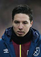 West Ham United's Samir Nasri<br /> <br /> Photographer Rob Newell/CameraSport<br /> <br /> The Premier League - West Ham United v Brighton and Hove Albion - Wednesday 2nd January 2019 - London Stadium - London<br /> <br /> World Copyright &copy; 2019 CameraSport. All rights reserved. 43 Linden Ave. Countesthorpe. Leicester. England. LE8 5PG - Tel: +44 (0) 116 277 4147 - admin@camerasport.com - www.camerasport.com