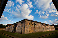 The Advanced Redoubt of Fort Barrancas, circa 1871, was built to defend Barrancas and Pensacola Navy Yard from land attack. <br /> <br /> COLIN HACKLEY PHOTO