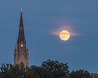Sep. 8, 2014; 2014 Basilica steeple and moon. (photo by Matt Cashore/University of Notre Dame)