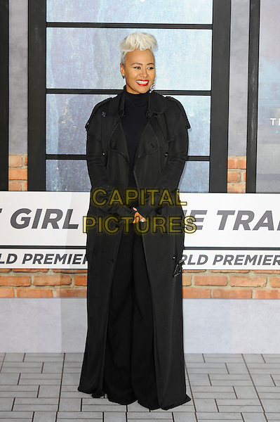 LONDON, ENGLAND - SEPTEMBER 20: Emeli Sand&eacute; attending 'The Girl On The Train' World Premiere at Odeon Cinema, Leicester Square on September 20, 2016 in London, England.<br /> CAP/MAR<br /> &copy;MAR/Capital Pictures