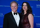 United States Senator Doug Jones (Democrat of Alabama) and his wife, Louise New, arrive for the 2018 White House Correspondents Association Annual Dinner at the Washington Hilton Hotel on Saturday, April 28, 2018.<br /> Credit: Ron Sachs / CNP<br /> <br /> (RESTRICTION: NO New York or New Jersey Newspapers or newspapers within a 75 mile radius of New York City)