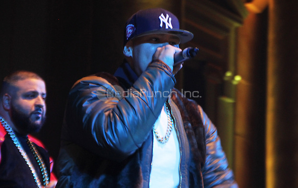 FEBRUARY 14, 2015 - NEW YORK, NY<br /> <br /> Fat Joe performs at the NBA Players Association Party, February 14, 2015 at CAPITALE in New York City.<br /> <br /> <br /> <br /> Walik Goshorn/MediaPunch