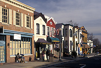 Georgetown, Washington, DC, District of Columbia, Buildings along Wisconsin Avenue in downtown Georgetown.