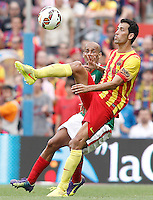 FC Barcellona's Sergio Busquets (r) and Atletic de Bilbao's Mikel Rico during La Liga match.September 13,2014. (ALTERPHOTOS/Acero) <br /> Football Calcio 2014/2015<br /> La Liga Spagna<br /> Foto Alterphotos / Insidefoto
