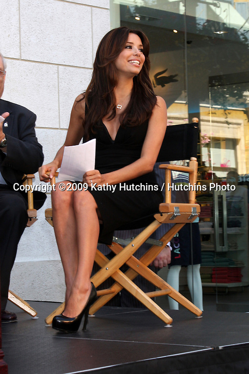 "Eva Longoria-Parker  at the kickoff Press Conference for ""The Rally for Kids with Cancer Scavenger Cup""  at the Americana in Glendale, CA  on March 31, 2009.©2009 Kathy Hutchins / Hutchins Photo....                ."