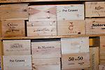 Wine, Cartons, Godo Restaurant, Florence, Italy