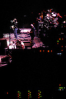 The Grateful Dead in Concert at the Brendan Bryne Arena, East Rutherford NJ, on April 1st 1988. View from stage left, all band members in view.