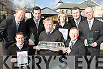 Staff from Killarney Railway Station celebrate winning the Ianro?d E?ireann Best Station in Ireland award at the station on Friday front row l-r: Tadgh McCarthy, Noel Meaney Stationmaster, Mick Leahy former Stationmaster. Back row: Maurice Moynihan, Hugh O'Callaghan, Triona Brosnan, Brian Horgan and Paudie O'Donoghue.