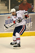 March 13, 2009:  Defeneseman Peter Aston (12) of the Rochester Amerks, AHL affiliate of the Florida Panthers, in the second period during a game at the Blue Cross Arena in Rochester, NY.  Toronto defeated Rochester 4-2.  Photo copyright Mike Janes Photography 2009