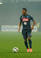Jonathan de Guzman n during the Italian Serie A soccer match between   SSC Napoli and Atalanta  at San Paolo  Stadium in Naples ,March 22 , 2015<br /> <br /> <br /> incontro di calcio di Serie A   Napoli -Atalanta allo  Stadio San Paolo  di Napoli , 22  Marzo 2015