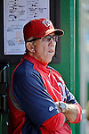 16 June 2012: Washington Nationals' Manager Davey Johnson watches play against the New York Yankees at Nationals Park in Washington, DC. The Yankees defeated the Nationals in 14 innings by a score of 5-3, taking the second game of their 3-game series. Mandatory Credit: Ed Wolfstein Photo