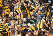 1st October 2017, Ricoh Arena, Coventry, England; Aviva Premiership rugby, Wasps versus Bath Rugby;  Wasps supporters welcome their team at the start of the match