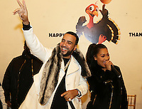 NEW YORK, NY - NOVEMBER 23, 2016 French Montana & LaLa Anthony attend the Educational Alliance Boys & Girls Club Thanksgiving Event, November 23, 2016 in New York City. Photo Credit: Walik Goshorn / Mediapunch