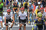 Alberto Contador (ESP) Trek-Segafredo crosses the finish line of Stage 2 of the 104th edition of the Tour de France 2017, running 203.5km from Dusseldorf, Germany to Liege, Belgium. 2nd July 2017.<br /> Picture: Eoin Clarke | Cyclefile<br /> <br /> <br /> All photos usage must carry mandatory copyright credit (&copy; Cyclefile | Eoin Clarke)