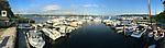 Essex Harbor, Essex, CT. Panorama. Connecticut River.