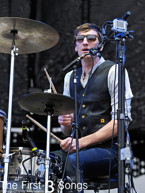Jason Hammel of Mates of State performs during Day 1 of the Voodoo Experience at City Park in New Orleans, Louisiana on October 28, 2011.