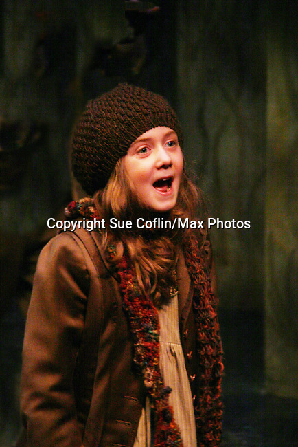 """Isabella Convertino (daughter of Liz Keifer) stars as Mary Lennox as Philipstown Depot Theatre presents Secret Garden on November 7, 2009 in Garrison, New York. It runs Oct. 23 until Nov 15, 2009. The musical The Secret Garden is the story of """"Mary Lennox"""", a rich spoiled child who finds herself suddenly an orphan when cholera wipes out the entire Indian village where she was living with her parents. She is sent to live in England with her only surviving relative, an uncle who has lived an unhappy life since the death of his wife 10 years ago. """"Archibald's son Colin"""", has been ignored by his father who sees Colin only as the cause of his wife's death.This is essentially the story of three lost, unhappy souls who, together, learn how to live again while bringing Colin's mother's garden back to life. (Photo by Sue Coflin/Max Photos)........"""