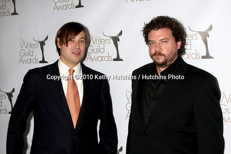 Jofy Hill, Danny McBride.arriving at 2010 Writers Guild of America Awards.Century Plaza Hotel.Century City, CA.February 20, 2010.©2010 Kathy Hutchins / Hutchins Photo....