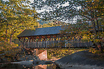 Fall colors the Sunday River Bridge (Artists Bridge) in Newry, Maine Lakes and Mountains, ME