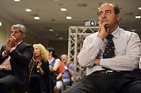 Roma, 9 Giugno 2012.Hotel Parco dei Principi.La Fiom incontra partiti e movimenti politici.L'intervento di Antonio Di Pietro , Italia dei valori.
