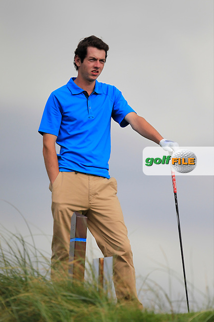 William Russell (Clandeboye) on the 6th tee during the South of Ireland Amateur Open Championship First Round at Lahinch Golf Club  27th July 2013 <br /> Picture:  Thos Caffrey / www.golffile.ie