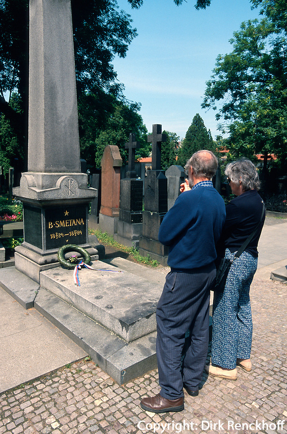 Friedhof auf dem Vysehrad, Grab von Smetana, Prag, Tschechien, Unesco-Weltkulturerbe