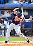 2 March 2010: Atlanta Braves left fielder Melky Cabrera in action against the New York Mets during the Opening Day of Grapefruit League play at Tradition Field in Port St. Lucie, Florida. The Mets defeated the Braves 4-2 in Spring Training action. Mandatory Credit: Ed Wolfstein Photo