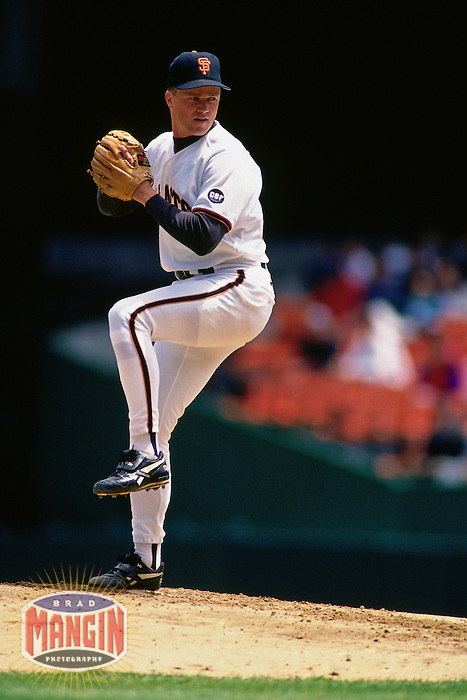 SAN FRANCISCO, CA:  Bill Swift of the San Francisco Giants pitches during a game at Candlestick Park in San Francisco, California on May 9, 1994. (Photo by Brad Mangin)