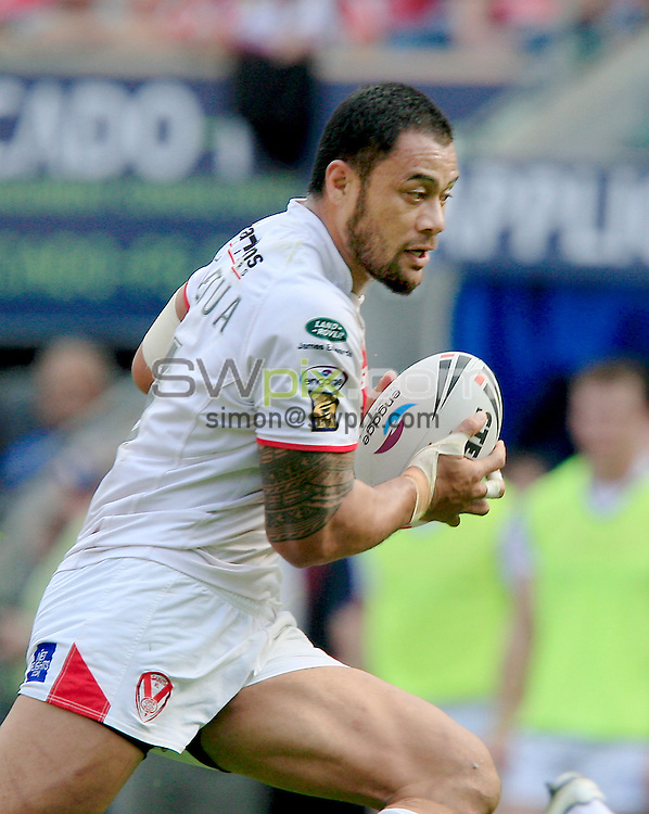 PICTURE BY CHRIS MANGNALL /SWPIX.COM...Rugby League - Super League  -  Wigan Warriors v St Helens Saints  - DW  Stadium, Wigan, England  - 22/04/11... St Helens Tony Puletua.