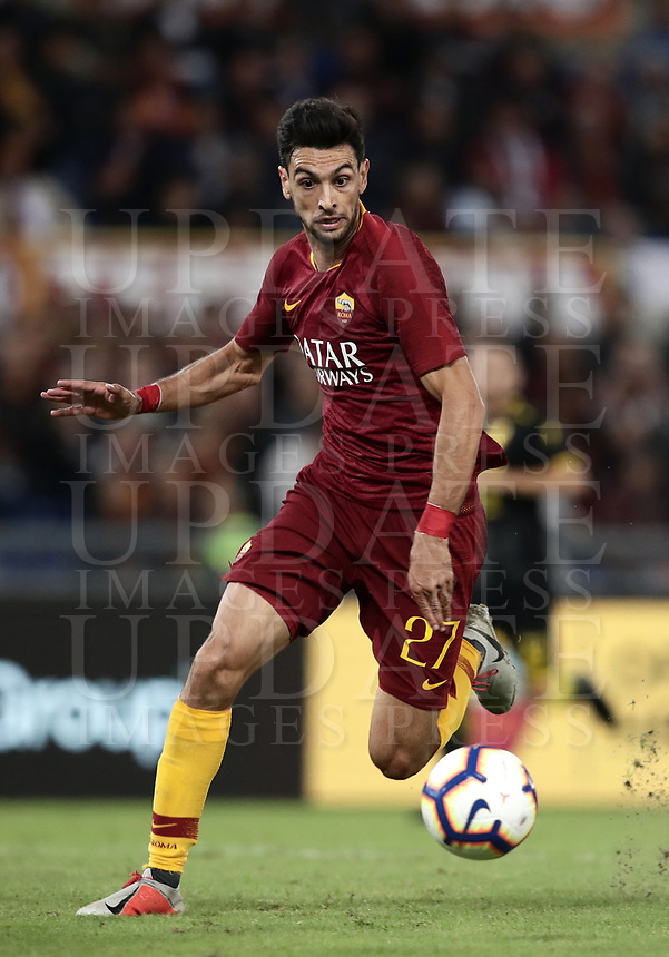 Football, Serie A: AS Roma - Frosinone, Olympic stadium, Rome, 26 September 2018. <br /> Roma's Javier Pastore in action during the Italian Serie A football match between AS Roma and Frosinone at Olympic stadium in Rome, on September 26, 2018.<br /> UPDATE IMAGES PRESS/Isabella Bonotto