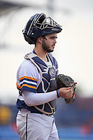 Canisius College Golden Griffins catcher Nick Capitano (35) during the second game of a doubleheader against the Michigan Wolverines on February 20, 2016 at Tradition Field in St. Lucie, Florida.  Michigan defeated Canisius 3-0.  (Mike Janes/Four Seam Images)