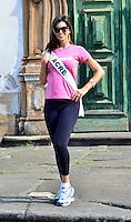 OURO PRETO, MG, 20.09.2013 - MISS BRASIL 2013 - Miss Acre, Raissa Esteves candidata a Miss Brasil 2013 durante visita a cidade historica de Ouro Preto a 100 km de Belo Horizonte. (Foto: Eduardo Tropia / Brazil Photo Press)