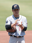Masahiro Tanaka (RailRiders), MAY 27, 2015 - 3A : New York Yankees pitcher Masahiro Tanaka prepares to pitch during a minor league baseball game against the Pawtucket Red Sox at McCoy Stadium in Pawtucket, Rhode Island, United States. (Photo by AFLO)