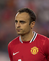 Manchester United FC forward Dimitar Berbatov (9). In a Herbalife World Football Challenge 2011 friendly match, Manchester United FC defeated the New England Revolution, 4-1, at Gillette Stadium on July 13, 2011.