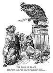 """The Dogs of Peace. British Bulldog. """"I'll bark you like any sucking dove."""" American Eagle. """"Good! Now then, all together:  'Coo-oo-oo!'"""""""