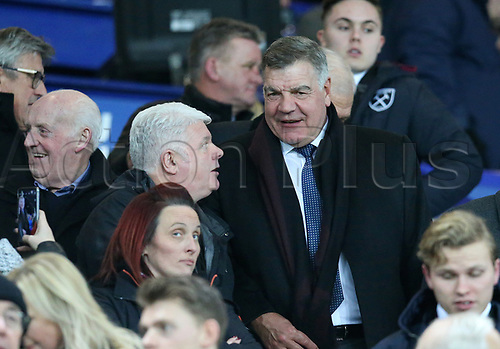 29th November 2017, Goodison Park, Liverpool, England; EPL Premier League Football, Everton versus West Ham United; newly appointed manager of Everton Sam Allardyce chats with fans as he takes his place in the the director's box before the kick off