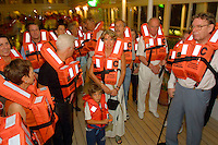 Passengers boarding the MS Europa must first of all join the mandatory safety drill.