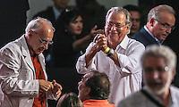 SAO PAULO, SP, 20 FEVEREIRO 2013 - 10 ANOS DO PT NO GOVERNO DEMOCRATICO E POLULAR - Jose Dirceu durante evento de 10 anos do PT (Partido dos Trabalhadores) no Governo Democrático e Popular na regiao norte da cidade de Sao Paulo. O evento do PT é o lançamento de uma série de seminários temáticos organizados pelo partidoem parceria com o Instituto Lula ea Fundação Perseu Abramo, para comemorar eavaliar os 10 anos de governo desde a posse de Lula, em 2003. FOTO: WILLIAM VOLCOV - BRAZIL PHOTO PRESS