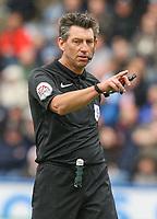 Referee Lee Probert<br /> <br /> Photographer Alex Dodd/CameraSport<br /> <br /> The EFL Sky Bet Championship - Huddersfield Town v Preston North End - Friday 14th April 2016 - The John Smith's Stadium - Huddersfield<br /> <br /> World Copyright &copy; 2017 CameraSport. All rights reserved. 43 Linden Ave. Countesthorpe. Leicester. England. LE8 5PG - Tel: +44 (0) 116 277 4147 - admin@camerasport.com - www.camerasport.com